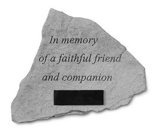 In Memory of a Faithful Friend... Memorial Garden Stone