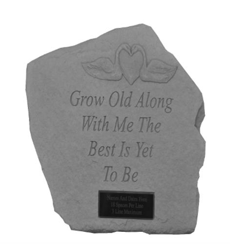 Grow Old Along With Me...Memorial Garden Stone