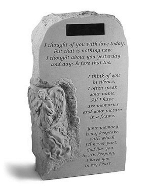 I Thought of You With Love Today...Memorial Garden Stone w/ Angel