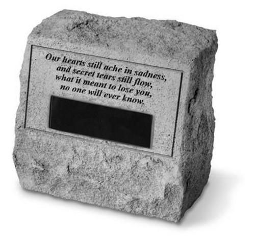 Our Hearts Still Ache in Sadness...Memorial Headstone w/ urn