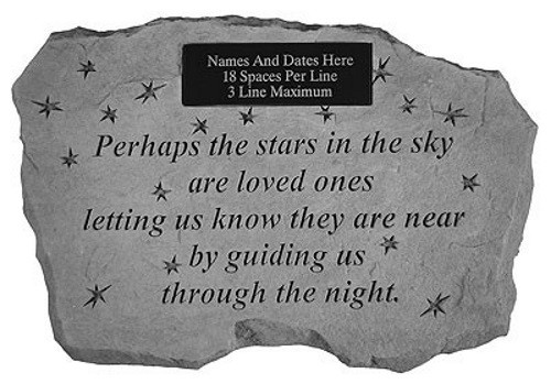 Perhaps they are not all stars in the sky...Memorial Garden Stone