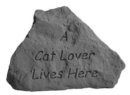 A cat lover lives here...Decorative Garden Stone