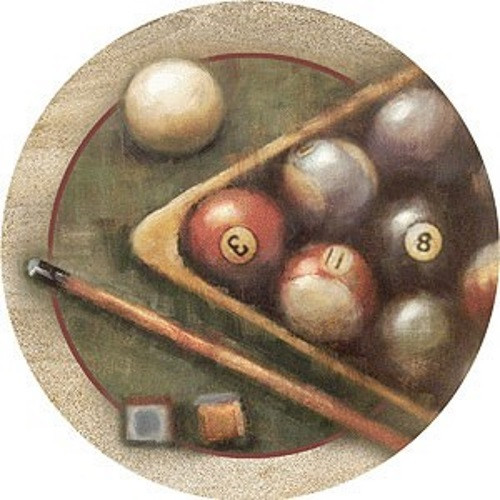 Nostalgic Billiards Coaster Set