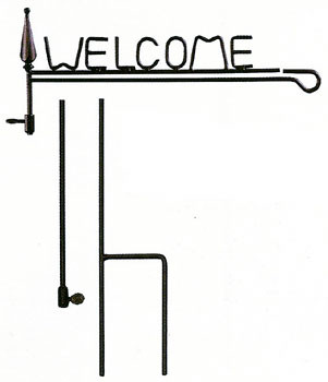 Welcome Garden Flag Stand