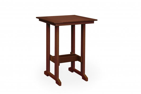 "29 1/4"" Square Poly Bar Table"