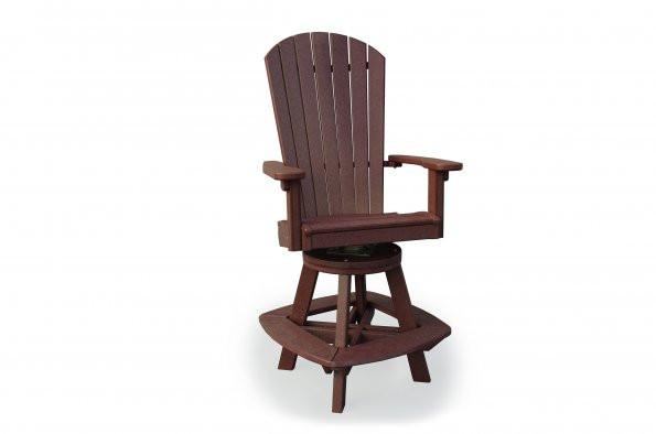 Great Bay Poly Swivel Bar Chair - Cherrywood
