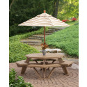 """52"""" Poly Octagon Table with Benches Attached"""