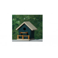 Birdhouse with Porch - Hunter & Beige