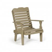Poly Curve Back Chair - Weatherwood
