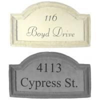 Large Crescent Top Address Plaque