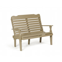 Poly Curve Back Bench - Weatherwood