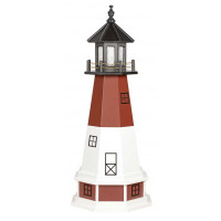 5' Amish Crafted Hybrid Garden Lighthouse - Barnegat - Cherrywood & White