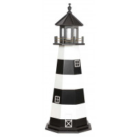 5' Amish Crafted Wood Garden Lighthouse - Cape Canaveral - Black & White