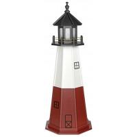5' Vermillion Wooden Lighthouse