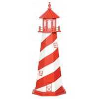 5' White Shoal Wooden Lighthouse