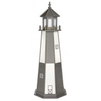6' Cape Henry Polywood Lighthouse - Dark Gray & White