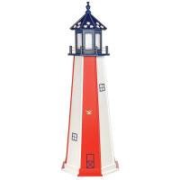 6' Patriotic Polywood Lighthouse - Patriotic