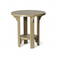 Poly Bistro Table - Weatherwood