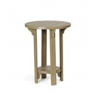 "Poly 30"" Pub Table - Weatherwood"