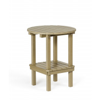 Poly Double Tier Table - Weatherwood