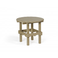 Poly Round Table - Weatherwood
