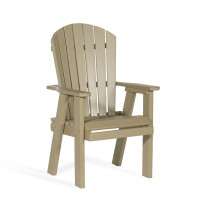 Poly Bistro Chair - Weatherwood