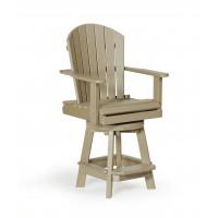 Poly Balcony Swivel Chair - Weatherwood