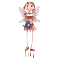 Fairy - Red Kinetic 3-D Garden Stake