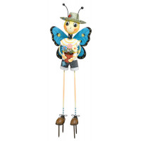 Butterfly Man Kinetic 3-D Garden Stake