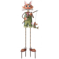 Cat Boy Kinetic 3-D Garden Stake