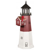 6' Polywood Barnegat Lighthouse with Polywood Mailbox
