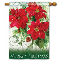 Christmas Poinsettias Standard Flag