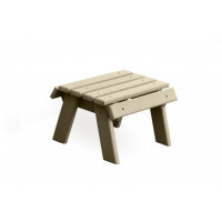 Poly Footstool - Weatherwood