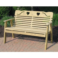 Cutout Heart Bench