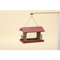 Large Polywood Rectangular Bird Feeder - Cherry/Weatherwood - Hanging
