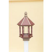 Small Polywood Bird Feeder - Cherry/WR (Weatherwood)