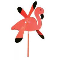 Flamingo Whirlybird Garden Stake