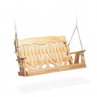5' High Back Heart Porch Swing