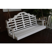6' Marlboro Yellow Pine Porch Swing - Shown in White