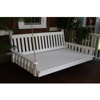 4' Traditional English Yellow Pine Swingbed - White