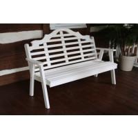 4' Marlboro Yellow Pine Garden Bench - White
