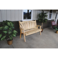 5' Cedar Fanback Garden Bench
