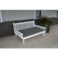 6' Traditional Yellow Pine Daybed - White w/ Cushion