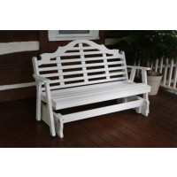 4' Marlboro Yellow Pine Glider - White