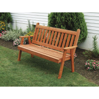 6' Cedar Traditional English Garden Bench