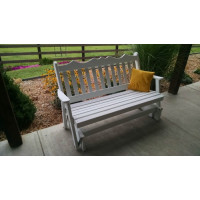 4' Royal English Yellow Pine Glider - White