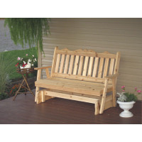 6' Cedar Royal English Garden Glider