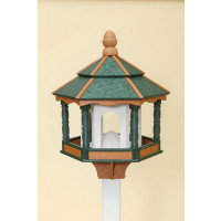 Large Hexagon Polywood Bird Feeder - Green/Cedar/White
