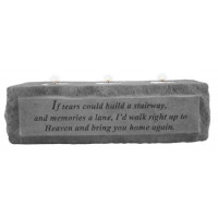 If Tears Could Build a Stairway...3 Light Memorial Candleholder