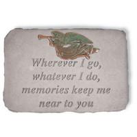 Wherever I Go, whatever I do...Memorial Garden Stone w/ Trumpeting Angel